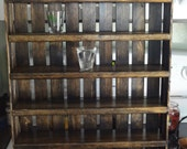 Shot Glass Display - Shot Glass Shelf - Wooden Display - Crate Shelves - Wooden Crate Shelving - Rustic Decor - Wooden Decor