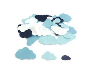 Felt shapes pre cut felt cloud white blue cloud fabric die cut felt shapes