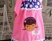 Super Adorable Doc McStuffins Pillowcase Dress with Applique
