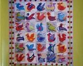 BIRD DANCE Quilt Pattern Book by Sue Spargo