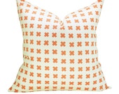 China Seas Cross Check pillow cover in New Shrimp on Tint