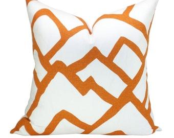 Zimba pillow cover in Orange