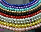 105 pcs 8mm   High quality  Beautiful Color imitation pearls - glass beads Charms Pendant Necklace Fittings