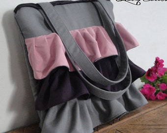 Tote Bag - Customizable for Color Fabric Bag - Everyday bag - 2 Zippers - 7 interior POCKETS - HIDDEN Pocket - Waterproof lining
