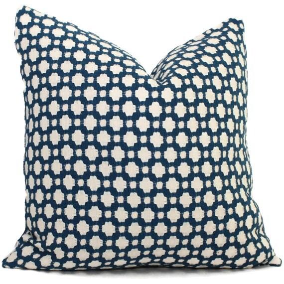 Decorative Pillows Indigo : Schumacher Betwixt in Indigo Decorative Pillow Cover Toss