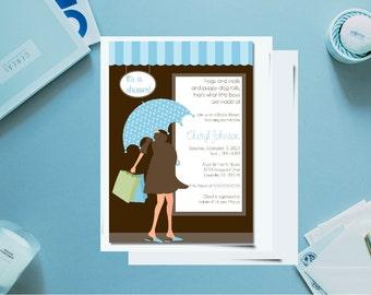 Printable baby shower invitation/ boy baby shower invitation / customized baby shower invitation / baby boy shower / baby shower invite