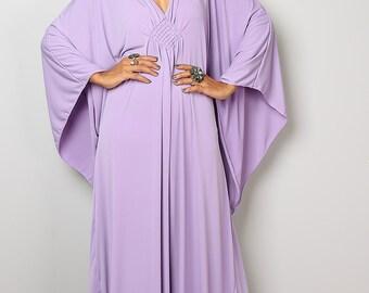 Lilac Dress - Light Purple Kaftan - Kimono Butterfly Dress: Funky Elegant Collection No.1s