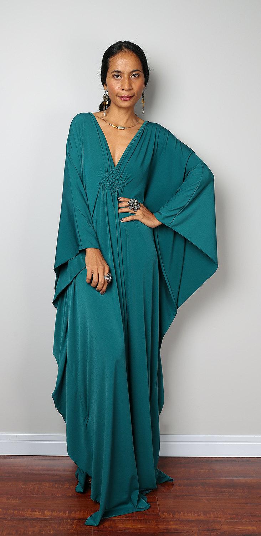 Teal Dress Teal Kaftan Kimono Butterfly Dress Funky