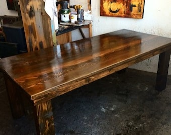Beautiful Reclaimed Wood Table  made in L o s  A n g e l e s