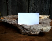 Business Card Holder Primitive Business Card Display Driftwood Rustic Desk Accessory Primitive Office Decor