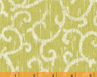 Ibiza - Scroll Celery by Rosemarie Lavin from Windham Fabrics