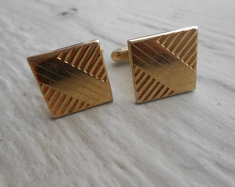 Vintage Gold Abstract Cufflinks. Wedding, Men's Christmas Gift, Dad.  Valentines, Groomsmen Gift.