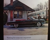 Vintage Magazine Original Promo Ad 1960's 61 Buick Waiting for Someone Important- Great for Framing