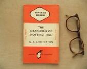 Orange penguin book The Napoleon of Notting Hill by G. K. Chesterton