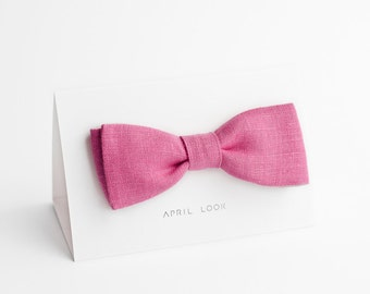 Hot pink bow tie - double sided