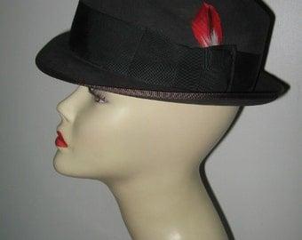 MALLORY FIFTH AVENUE Fedora, Dark Gray Mens' Hat