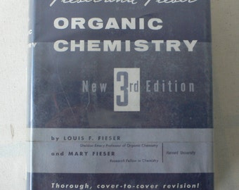 vintage textbook, Organic Chemistry, 3rd Edition, 1956, from Diz Has Neat Stuff