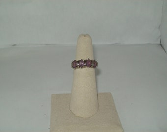 Sterling Silver Amethyst Ring size- 6