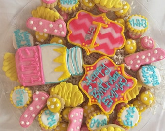 Lemonade Stand Birthday Cookie Tray