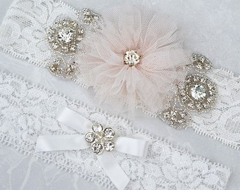 SALE vintage garter , bridal garter, wedding garter, garter , lace garter, flower garter set