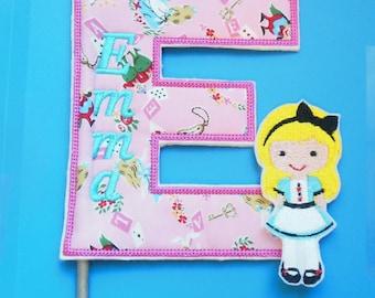 Personalized Centerpiece Pick - Alice in Wonderland