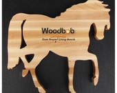 Horse personalized cutting board with engraving