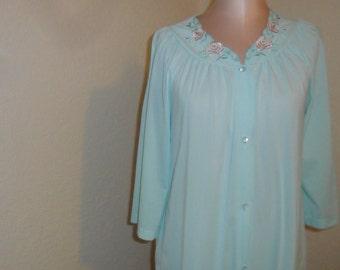 Vintage Nylon Robe Shadowline Size Small Housecoat