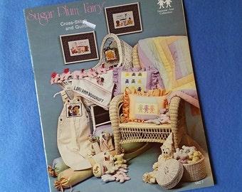 Sugar Plum Fairy Cross-Stitch and Quilting - vintage counted cross stitch and quilting book