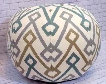 Graphic Pouf/Ottoman made from Robert Allen Home Decor Fabric
