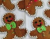 Christmas Fabric, Gingerbread Boys, Brother Sister Design Studio B37 PGV P009, Cookie Theme Cotton Fabric, Holiday Fabric, Christmas Cotton