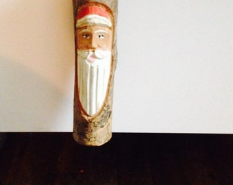 Handcrafted vintage  santa tree ornament