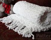 "Chunky Fleece Baby Blanket Super Bulky Crochet PATTERN 26"" x 26""/(66 x 66) cm - PDF 2626"