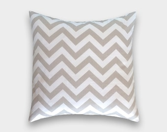 CLEARANCE 50% OFF - Taupe Zig Zag Chevron Pillow Cover 20X20. Throw Pillow. Accent Pillow. Geometric. Chevron pillow.
