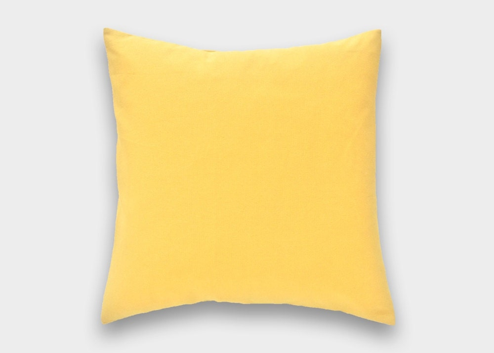 50% OFF CLEARANCE Solid Yellow Decorative Pillow Cover. 18x18.