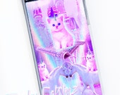 The Magic Kingdom Pastel Kawaii Cat Unicorn iPhone Case - iPhone 5/5s plastic clear case space cats castle magical