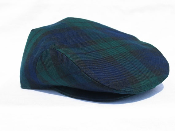 Black Watch Hat, Black Watch Tartan Flat Cap, English Hat, Tartan Newsboy, Scottish Wedding Hat, Made In Canada, Gentleman Hat, Holidays Hat