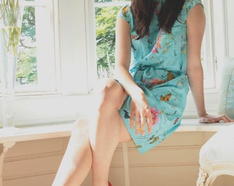 Sale Sale Fair Trade Blue Botanical Shirt Dress was 29.99 now 24.99. Last few remaining in all sizes