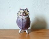 Vintage Mexican Ceramic Owl Mexican Folk Art Pottery Tonala Bird Mexico