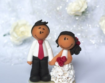 "Wedding cake topper ""Natalia"" (fuchsia pink) - AVAILABLE / Ready to ship"