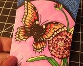 Monarch, Original Permanent Marker Art on Bristol ACEO Artist Trading Card