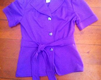 Funky  purple crimplene 1960s jacket