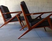 RESERVED for Kim // mid century Modern styled LOUNGE CHAIRS