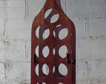 Mid Century Modern WINE RACK holder