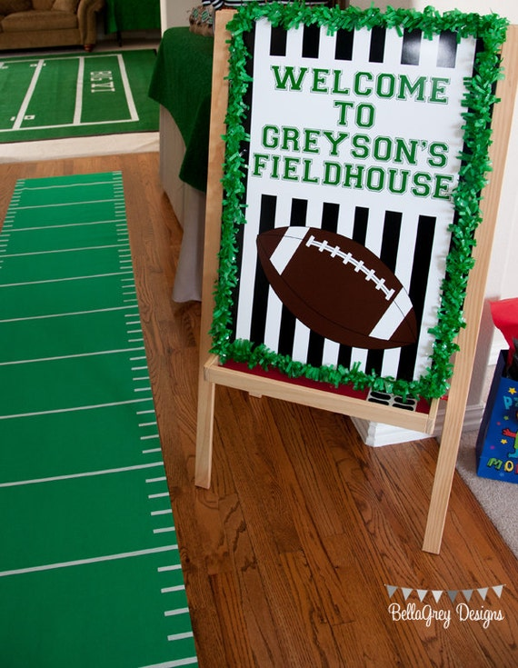 Football Down Set Hut Sports Theme Birthday Party Football