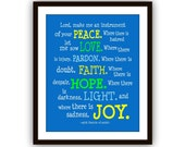St. Francis of Assisi Prayer, Confirmation Gift Boy, Confirmation Gift Girl, Graduation Gift, Child, Nursery, kids art