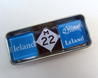 LELAND Michigan Magnets - Up North Michigan Magnets Set, Leelanau, Traverse City, Up North, Sleeping Bear Dunes, Suttons Bay, Leland