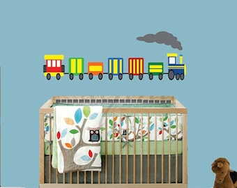 20% OFF SALE REUSABLE Train Wall Decal - Childrens Decals - B613