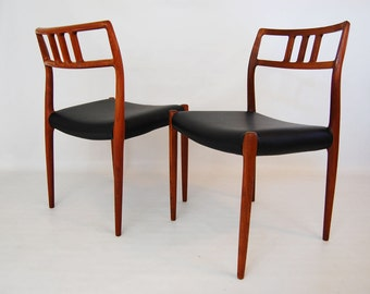Pair of J.L. Moller Model 79 Teak Dining Chairs