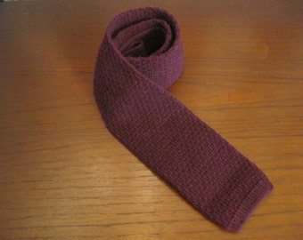 """Maroon knit tie by """"Land's End"""""""