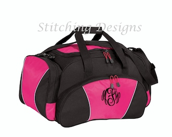 Monogrammed duffel bag, gym bag, over night bag, sports bag